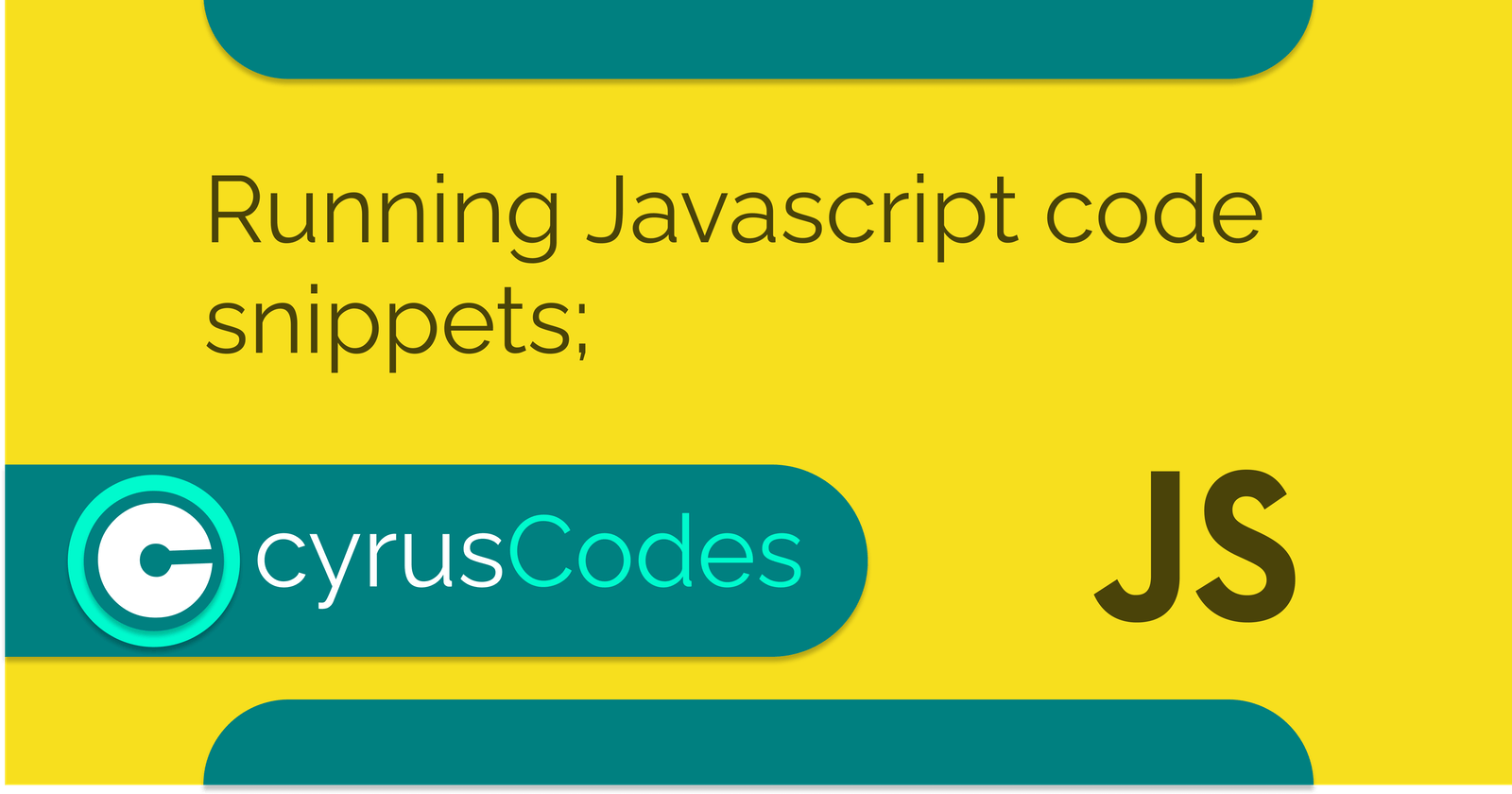 Running Javascript code snippets;