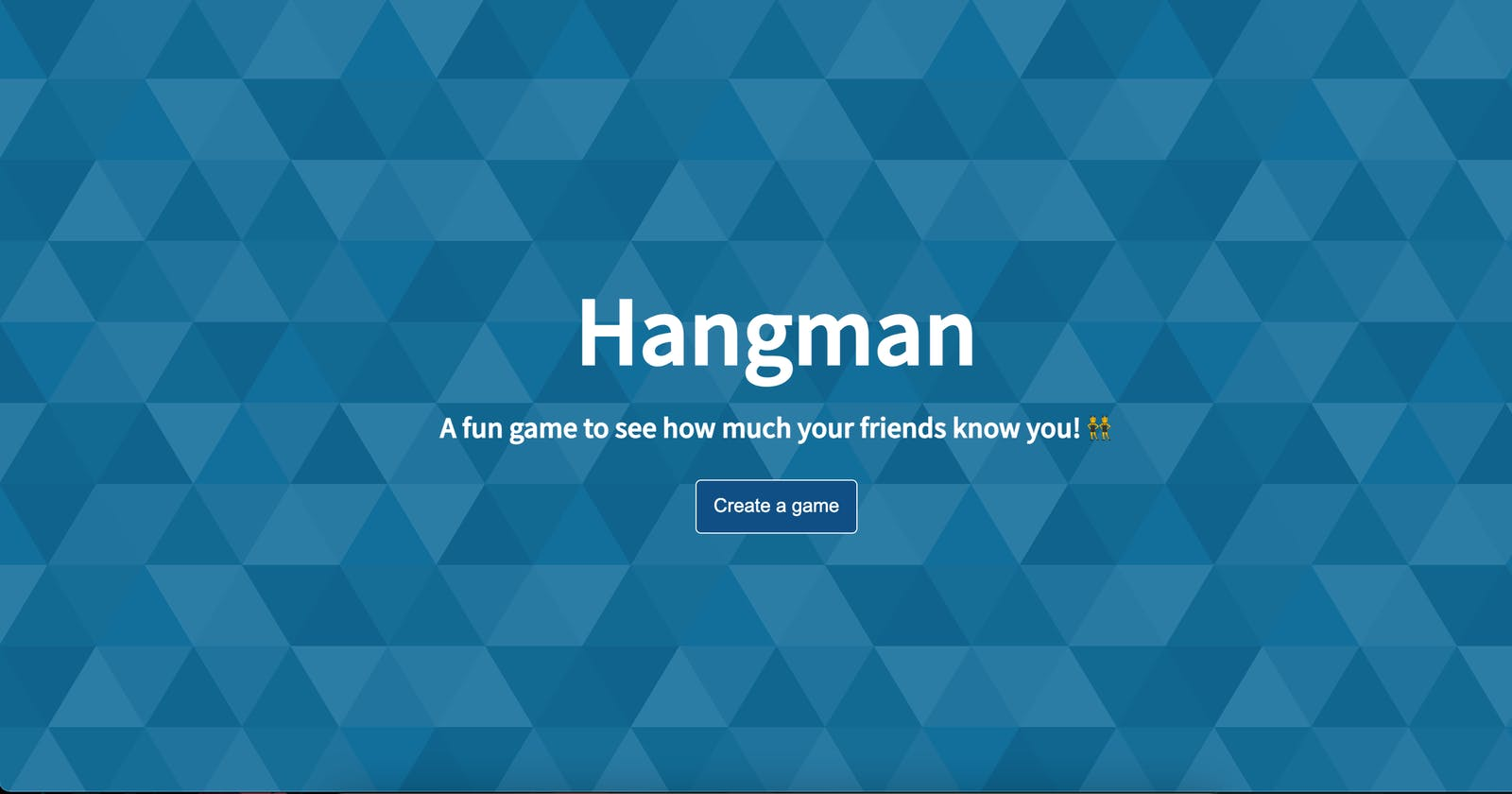Hangman - A fun game to see how much people know you.