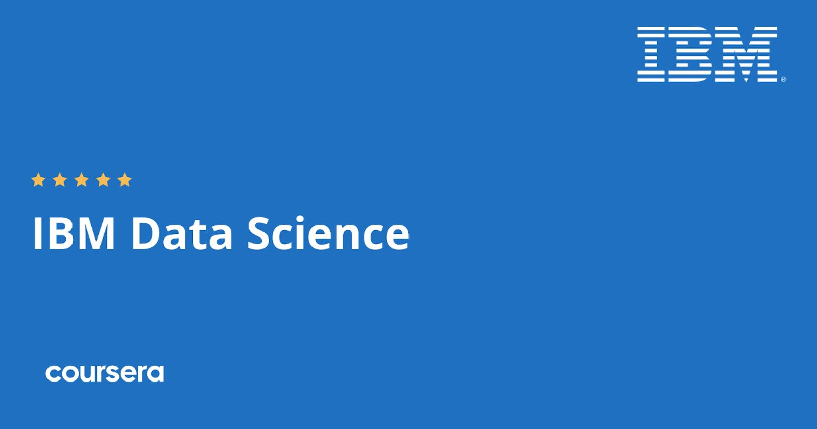 Minha jornada no IBM Data Science Certificate