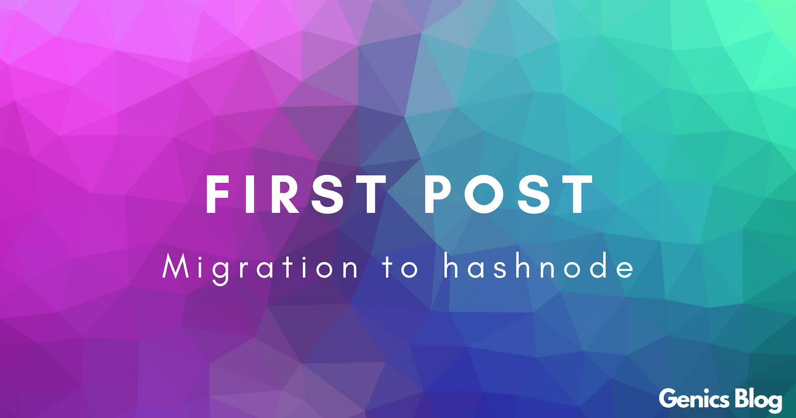"git commit -m ""Migration to hashnode"""
