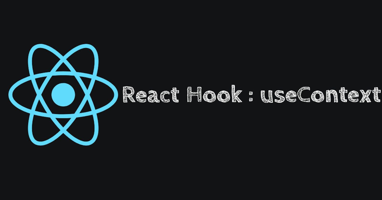 React Hook #5 useContext()