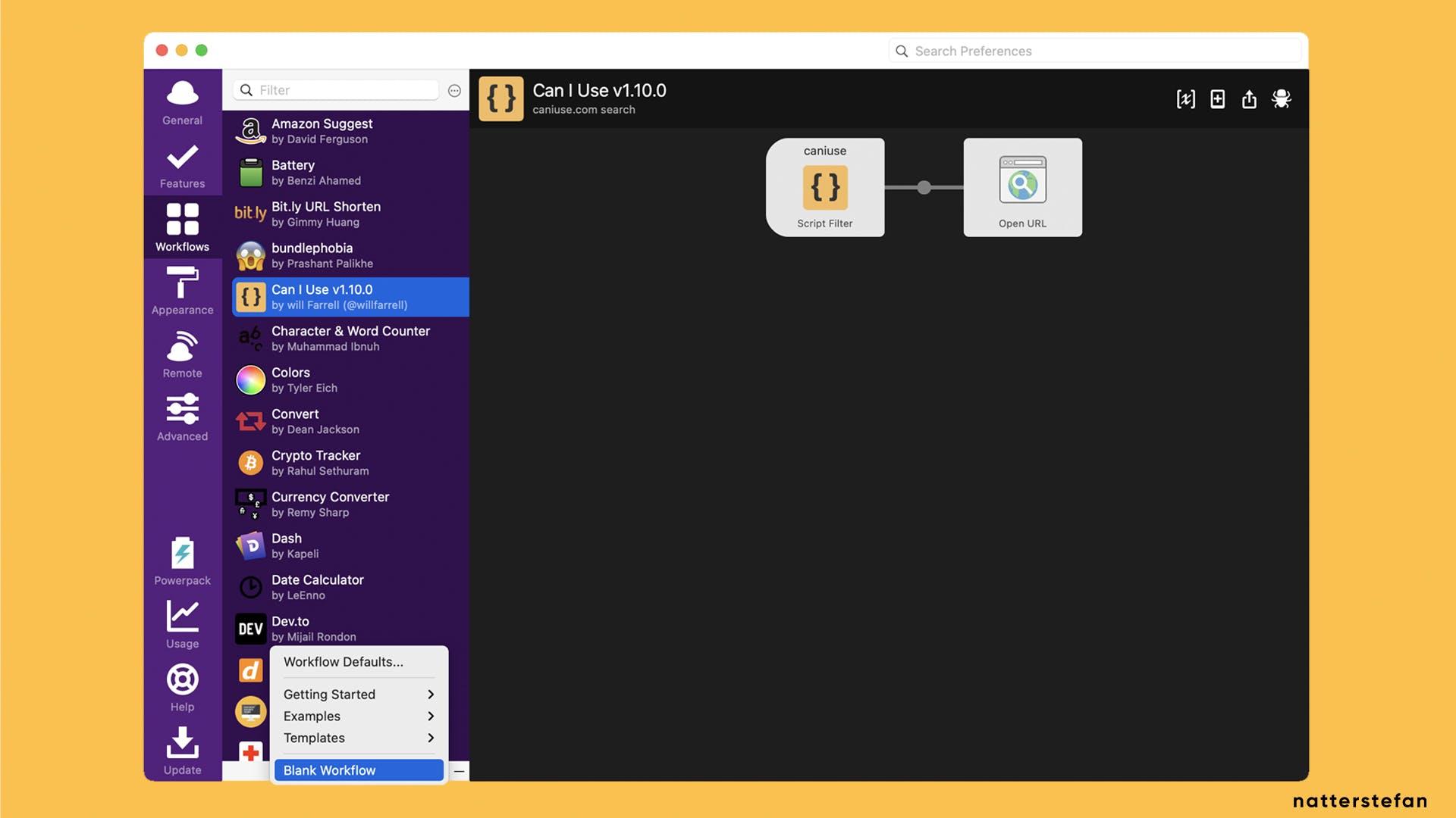 Create Blank Workflow