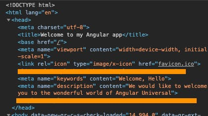 Angular Universal meta description