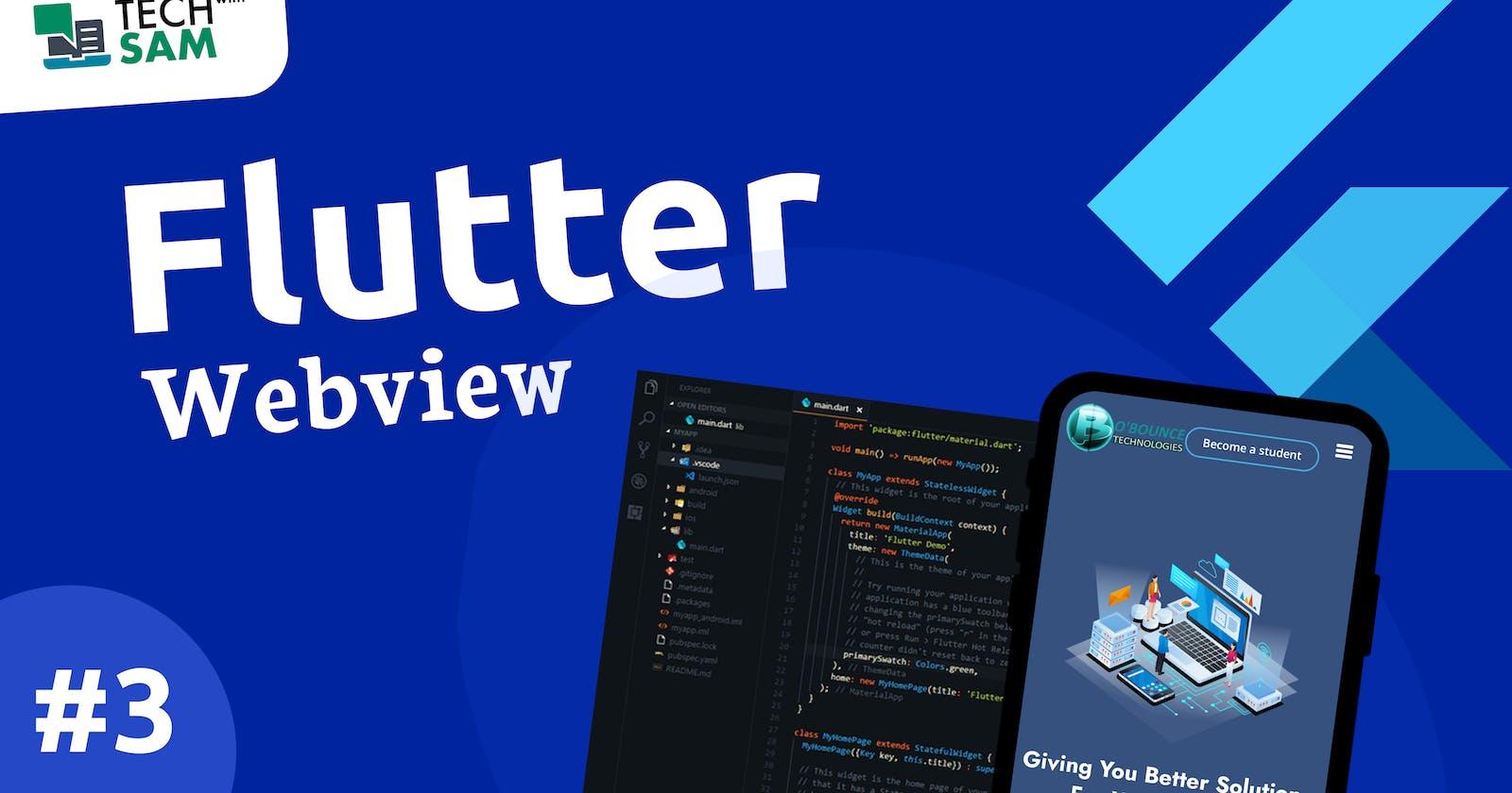 FLUTTER WEBVIEW TUTORIAL #3 - Convert a website to an app using flutter.