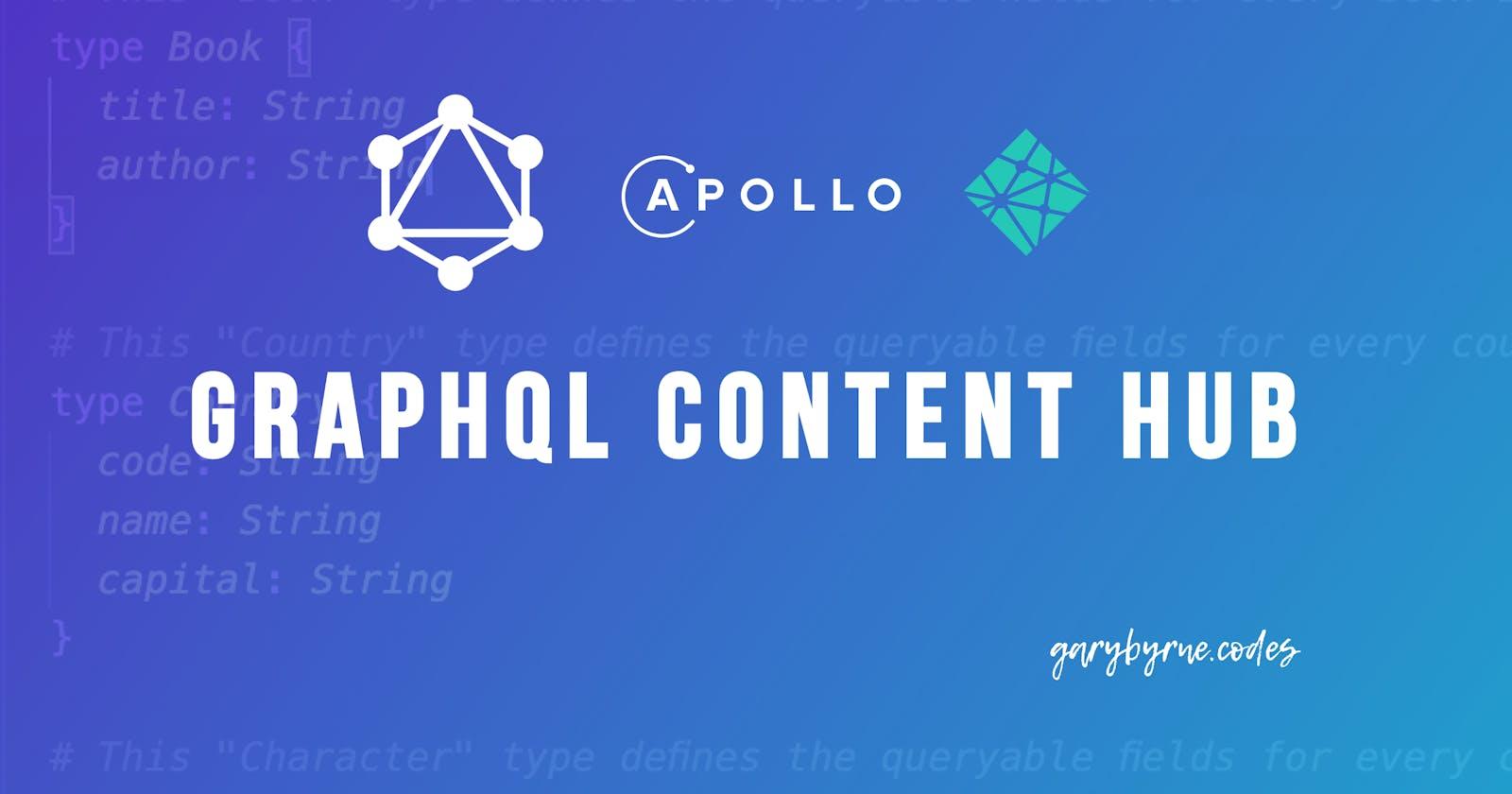 Creating an Apollo Server GraphQL Content Hub