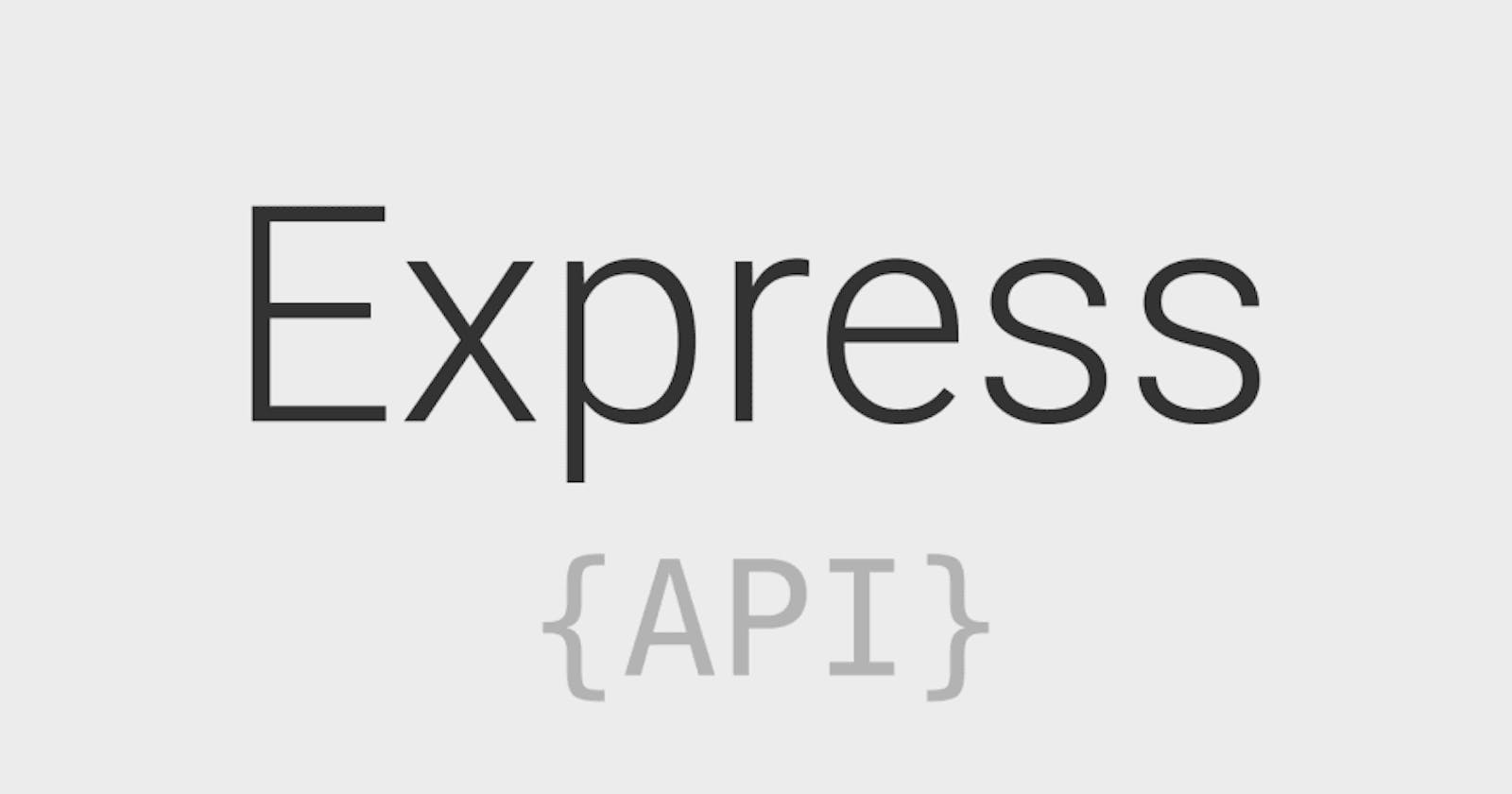 Using MongoDB with ExpressJS - Part 1 (Setting Up Express)