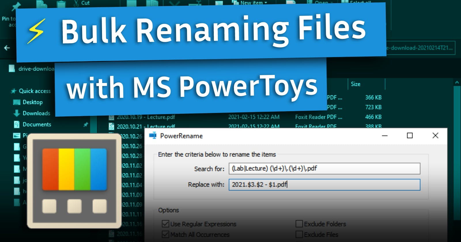 Easily Bulk Rename Files on Windows