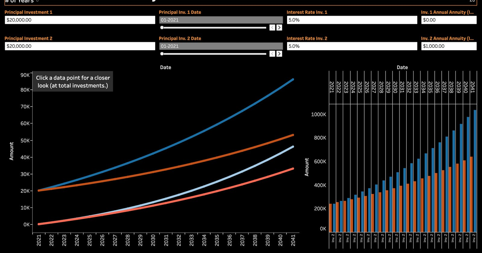 Build an Investment Calculator in Tableau