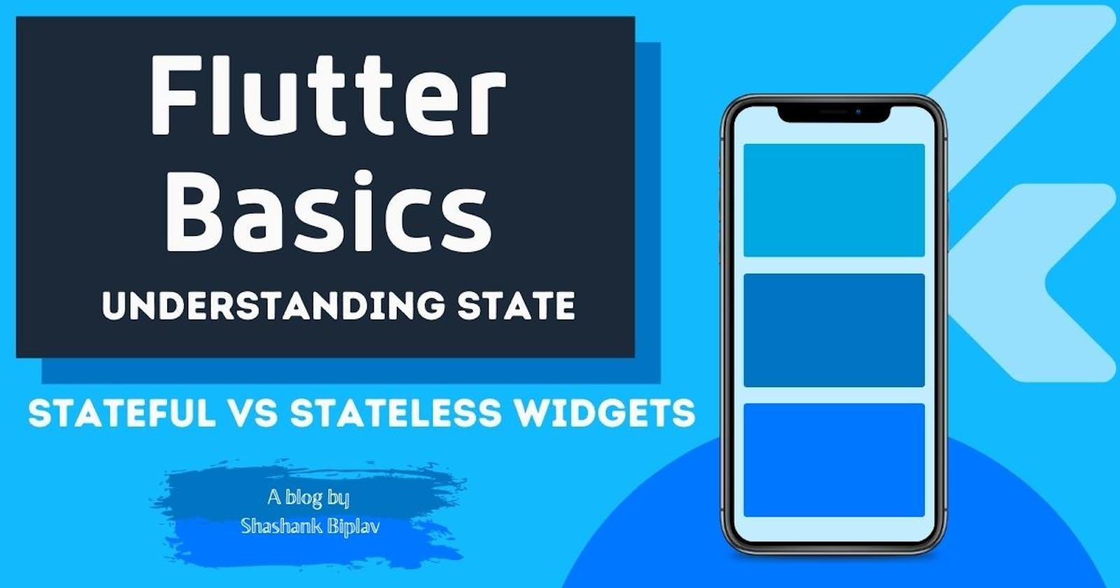 Flutter Basics - Understanding State