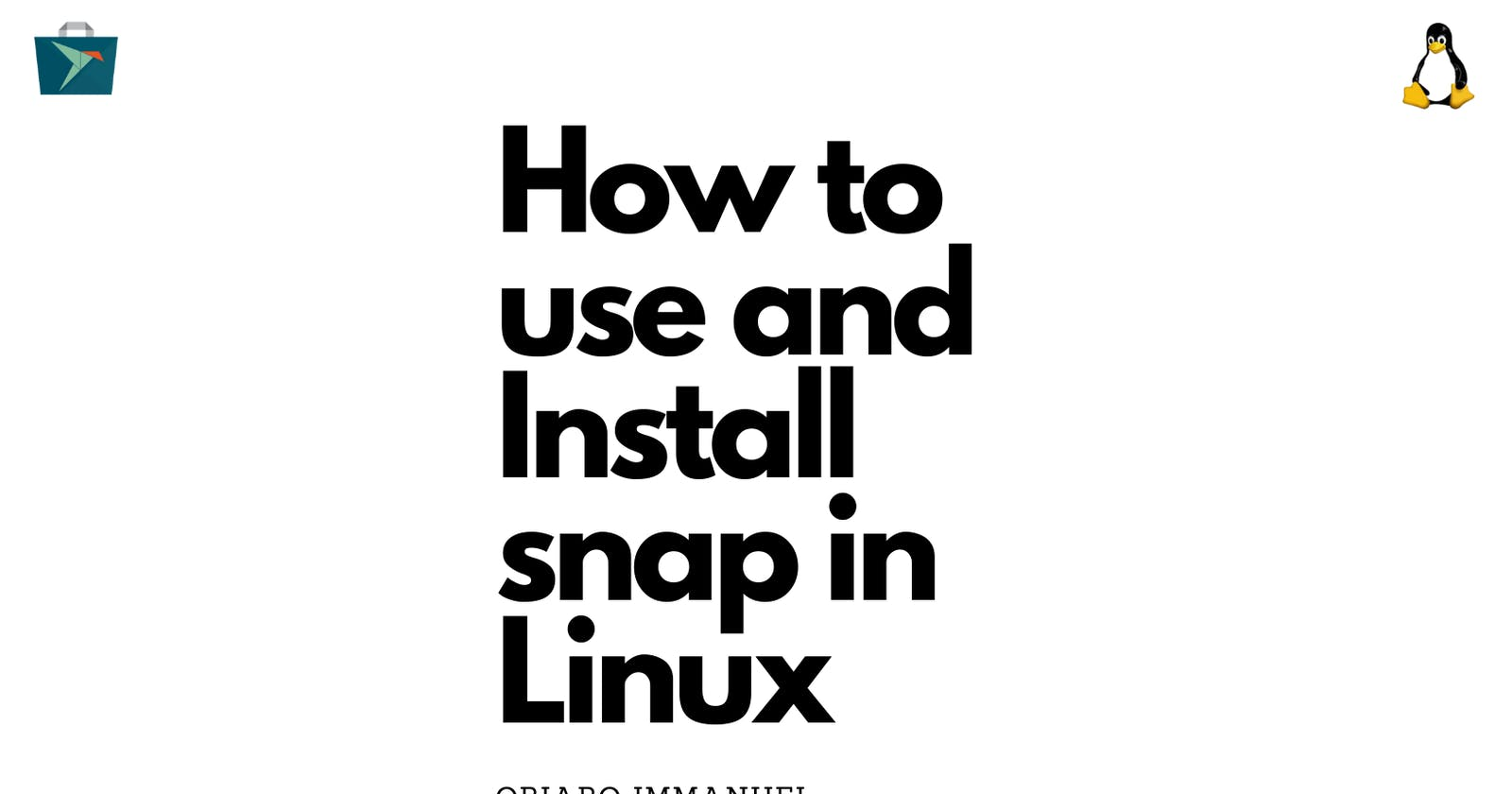 How to install Application on Linux ( using snap )