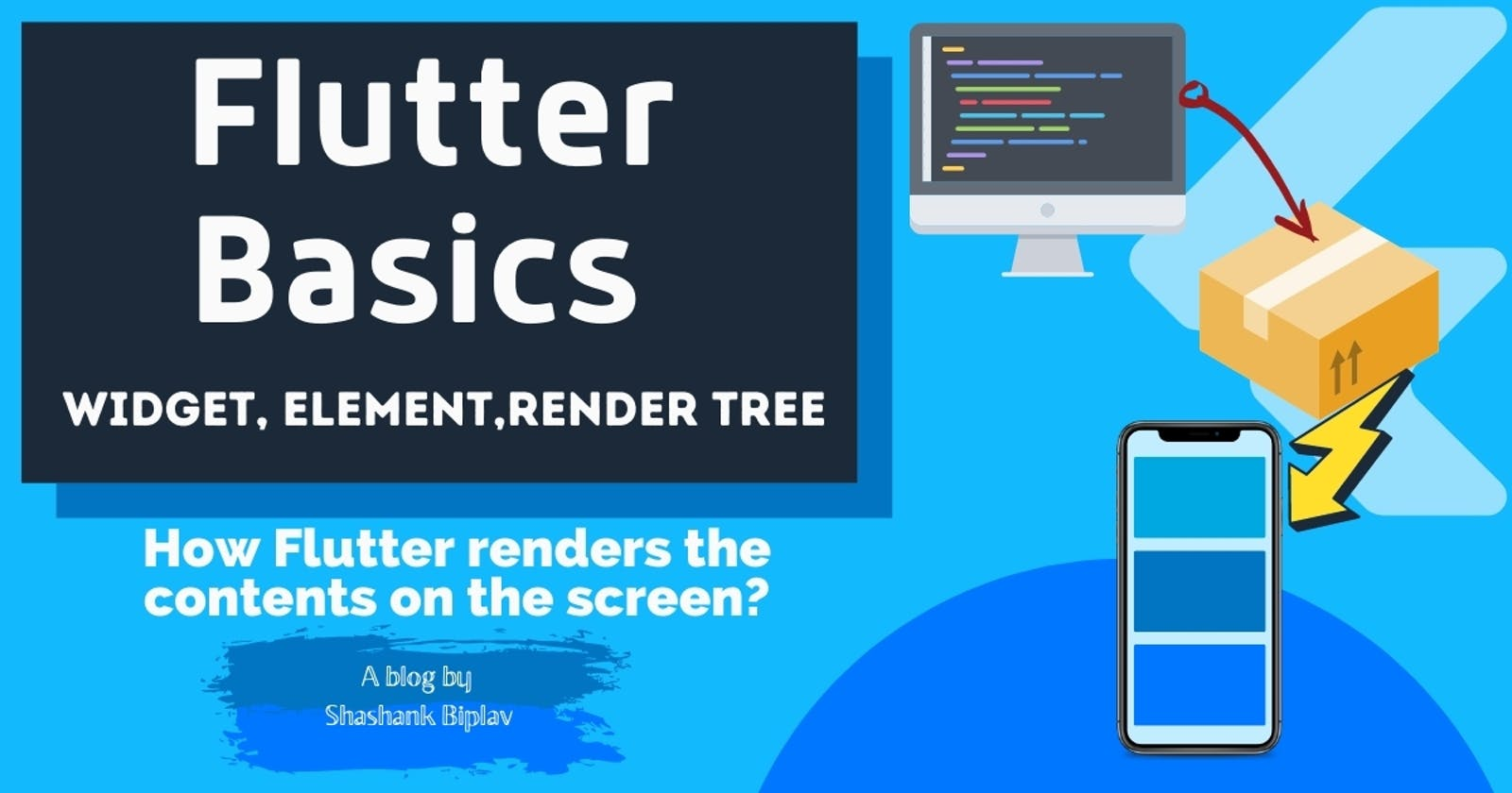Flutter Basics - How Flutter renders the contents on the screen?