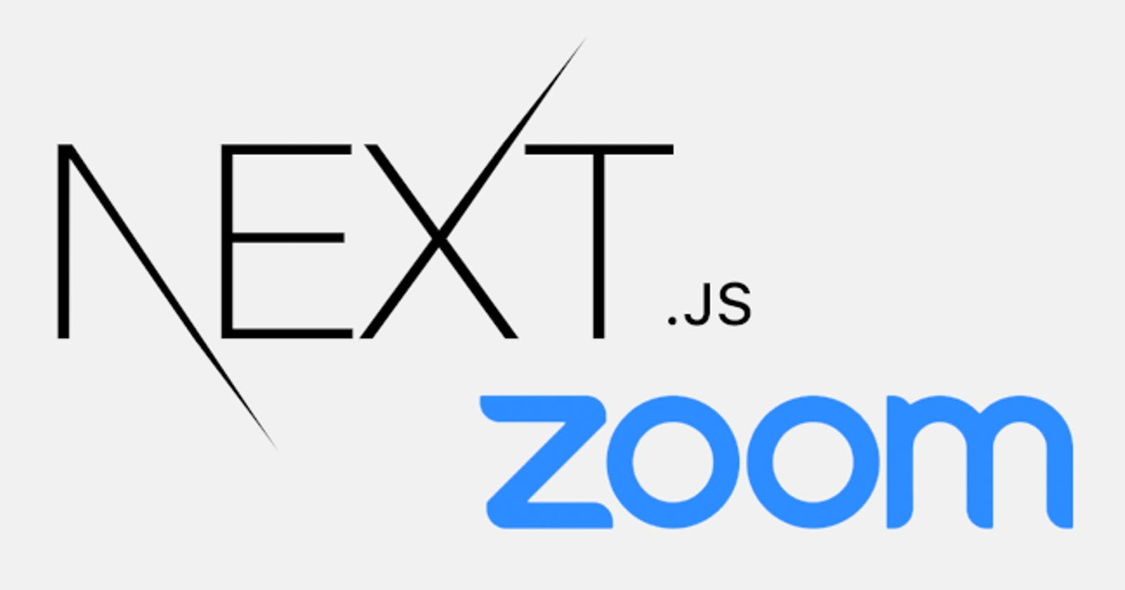 Zoom OAuth with NEXT.js App