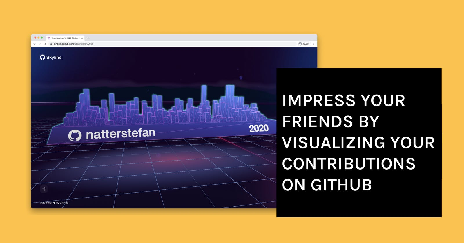 Impress Your Friends By Visualizing Your Contributions on GitHub
