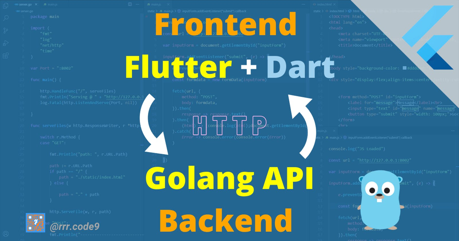 Flutter+Dart Frontend <-->Golang Backend API