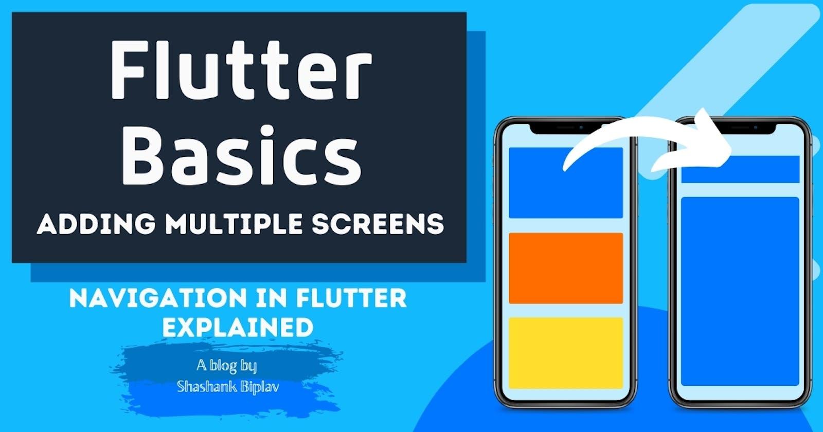 Flutter Basics - Adding Multiple Screens