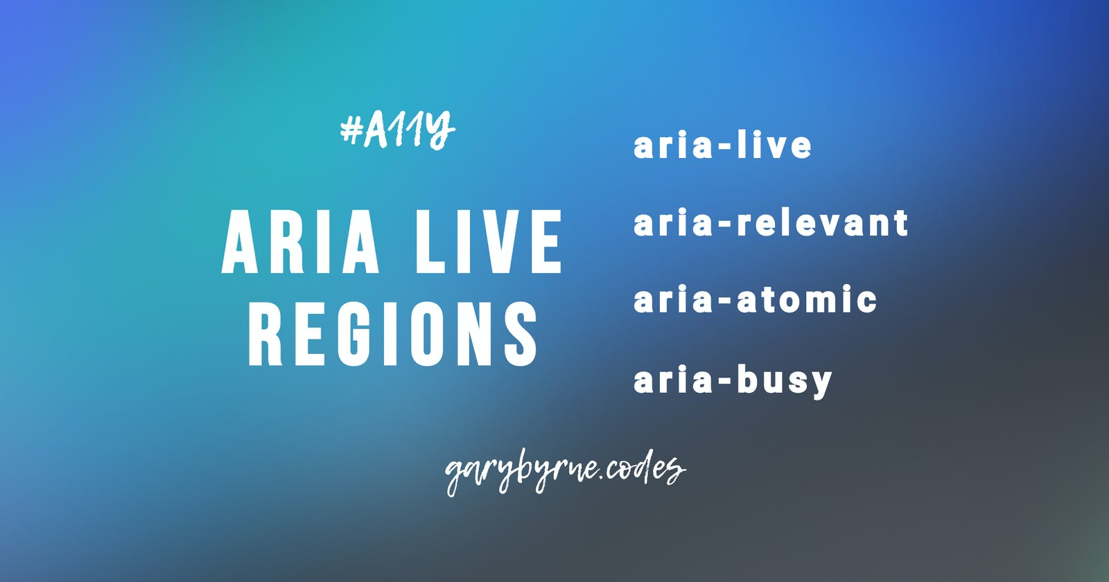 Introduction to ARIA Live Regions