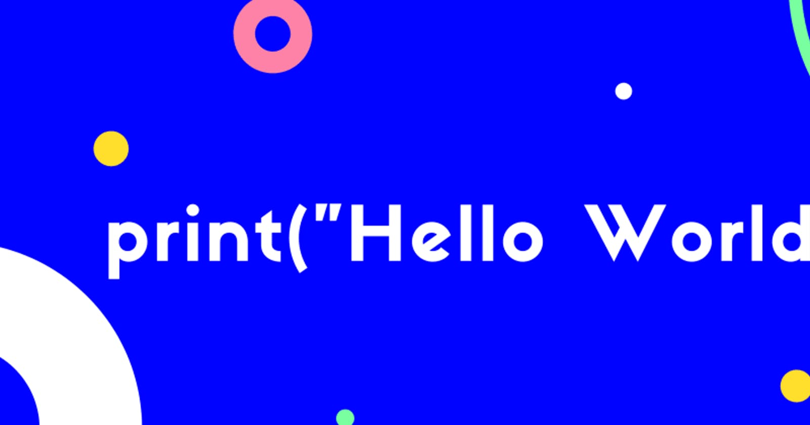 Hello World in the languages I know