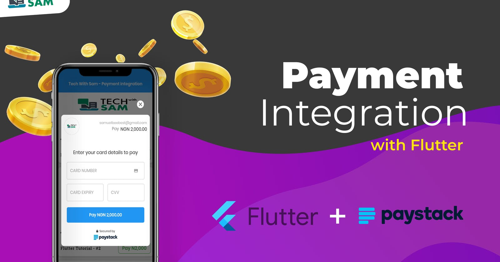 A simple way to integrate/implement Payment Gateway in Flutter app - (Paystack).