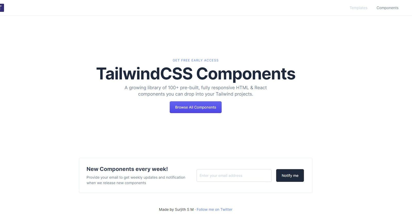Building TailwindCSS Components — Web3Templates