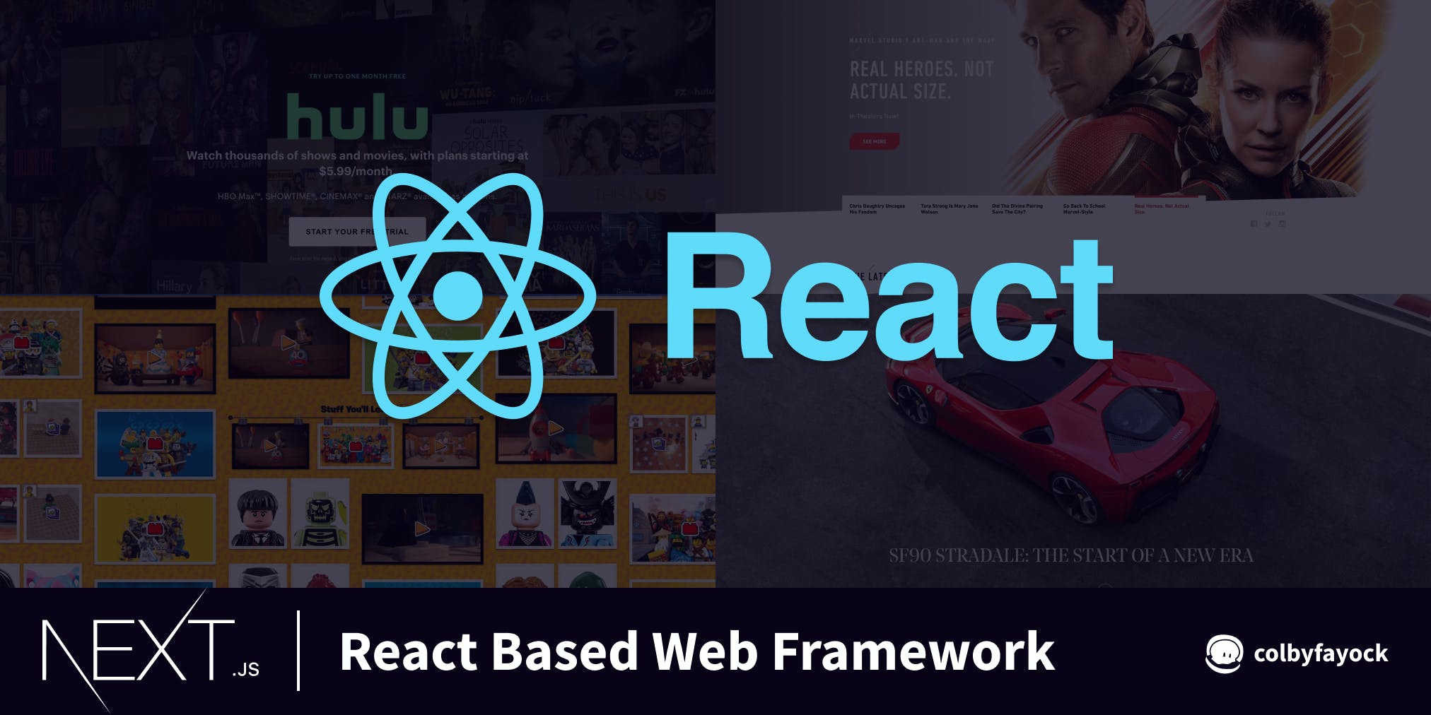 React based web framework