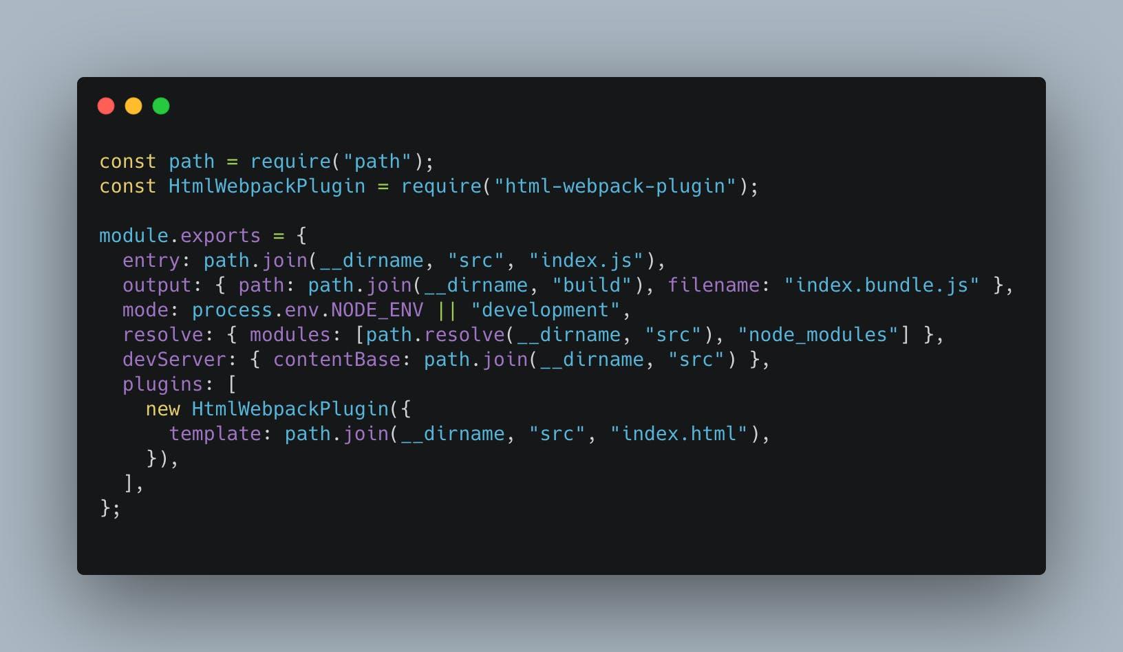webpack config js