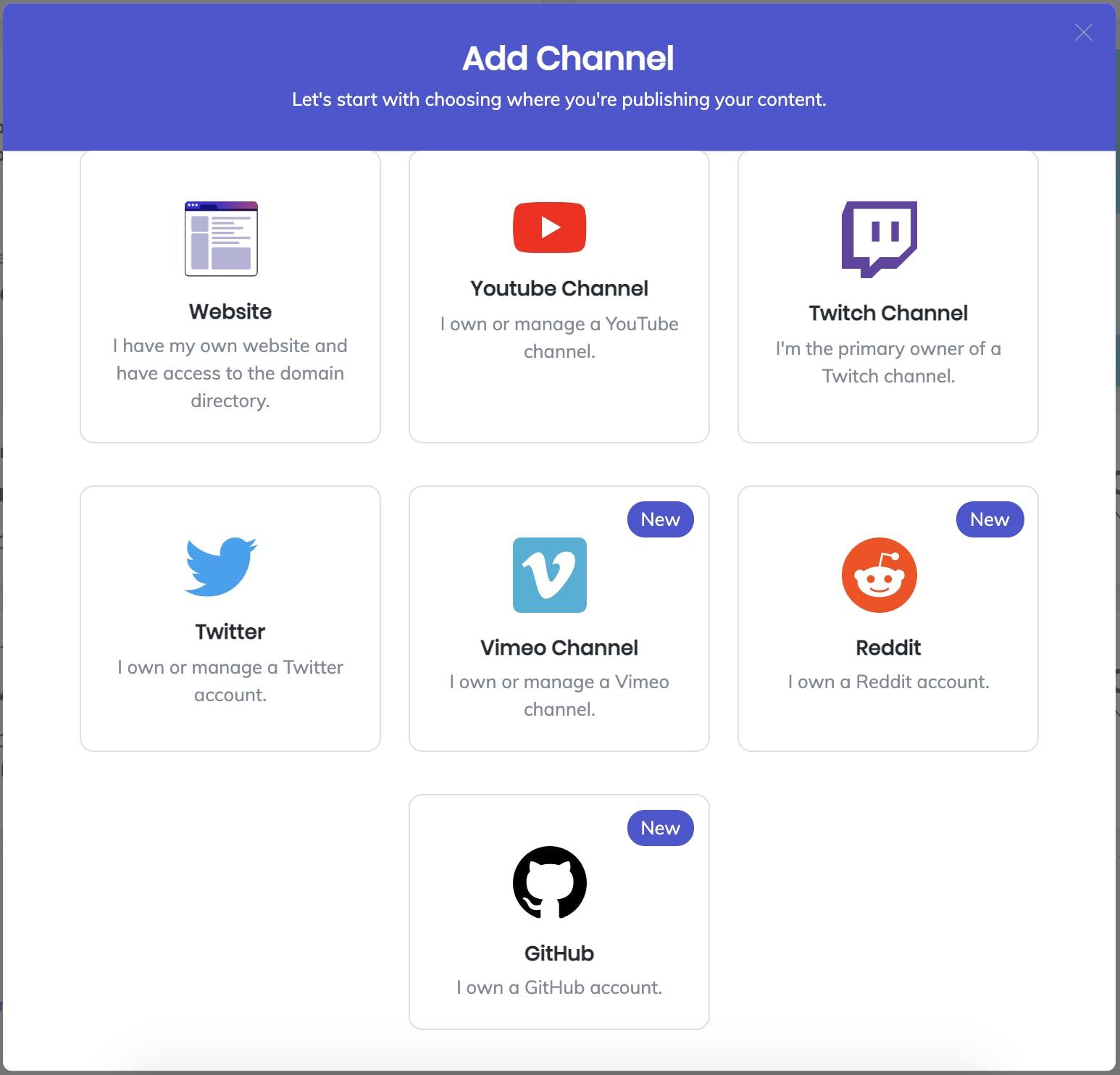 Available BAT Integration channels