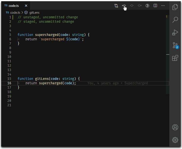 GitLense extensions
