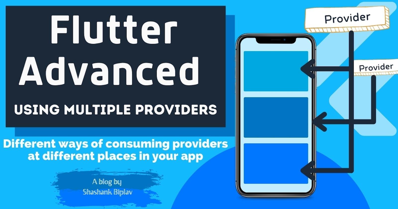 Flutter Advanced - Using Multiple Providers