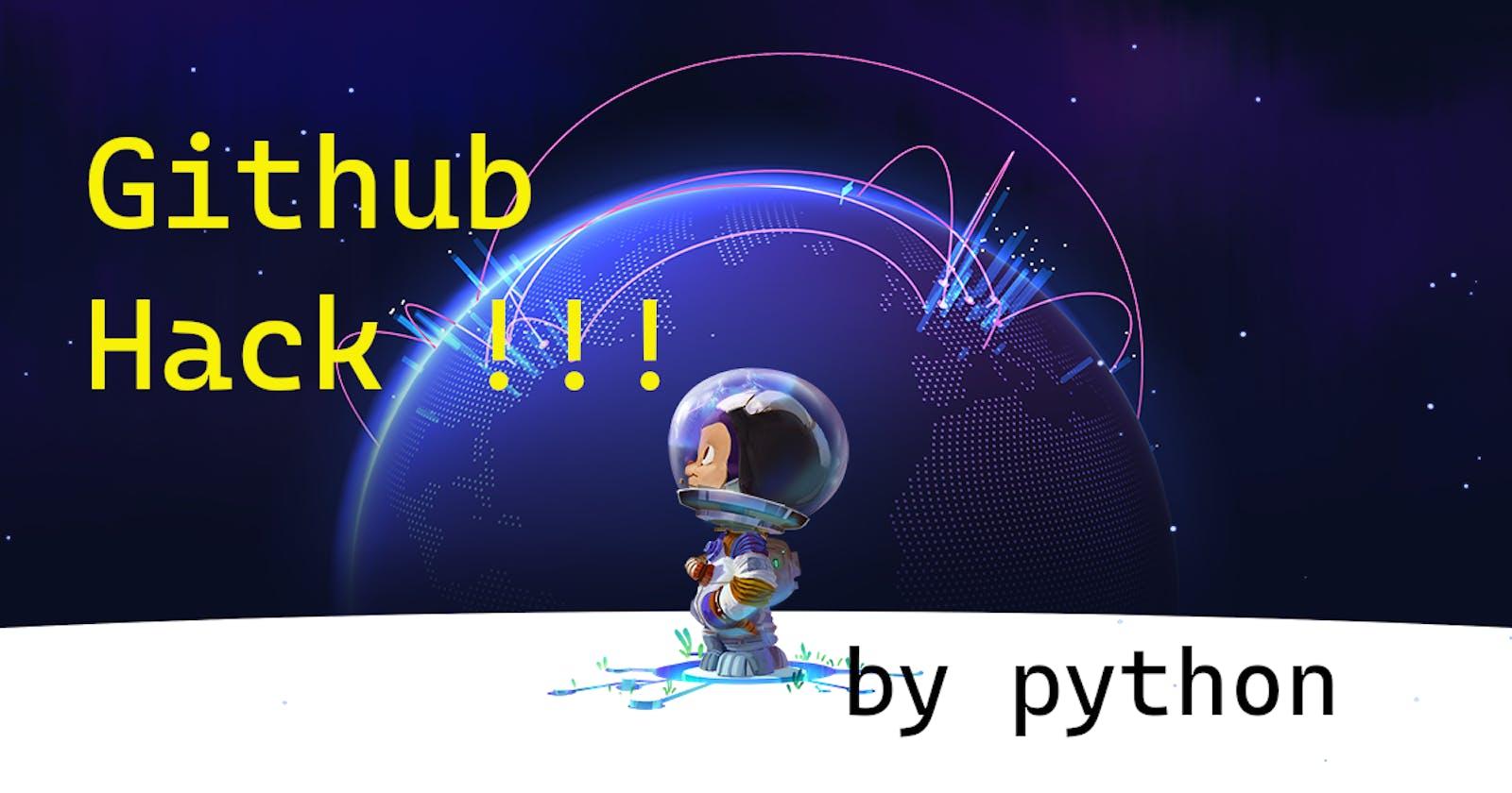 Hack GitHub Contributions  With Python Programming