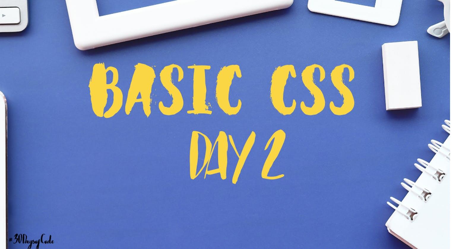 Basic CSS - Day 2
