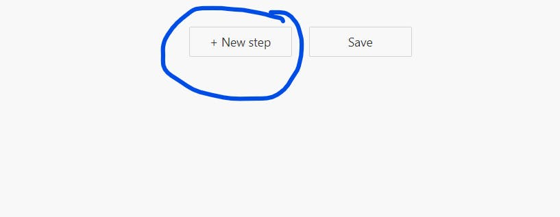 Click on the new step button