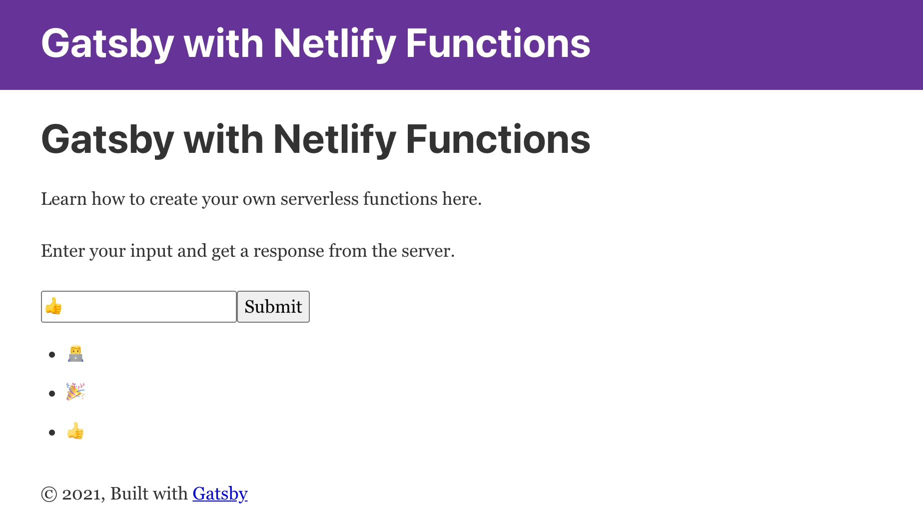 Gatsby with serverless functions