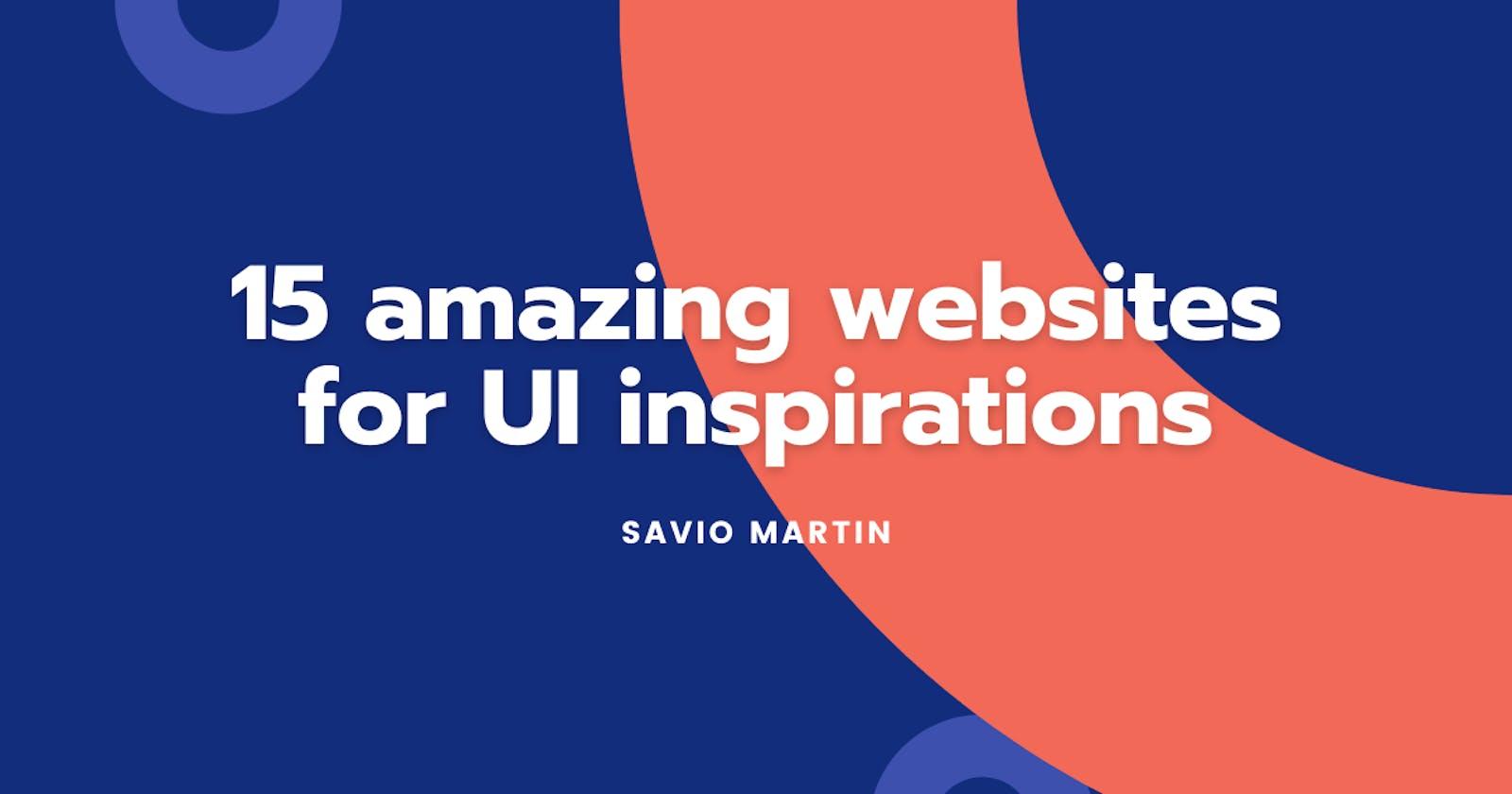 15 amazing websites for UI inspirations 💖