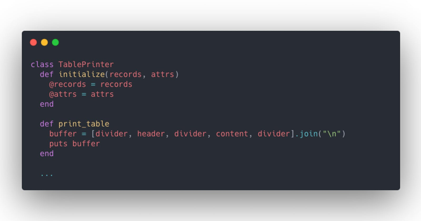 Simple Ruby class to print ActiveRecord results as a table
