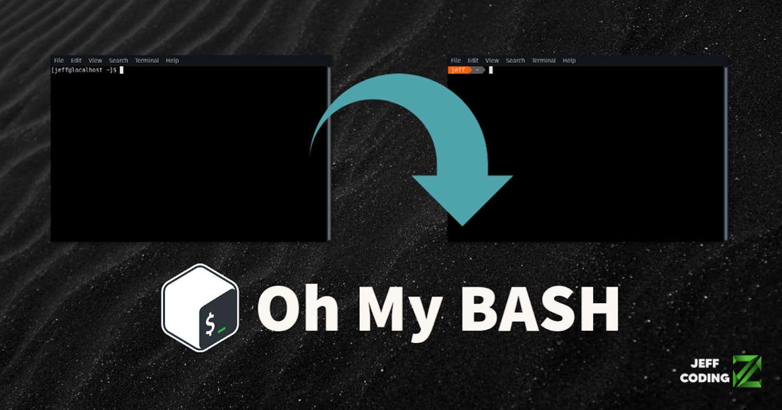 Cambia la apariencia de la terminal con OhMyBash (Linux)