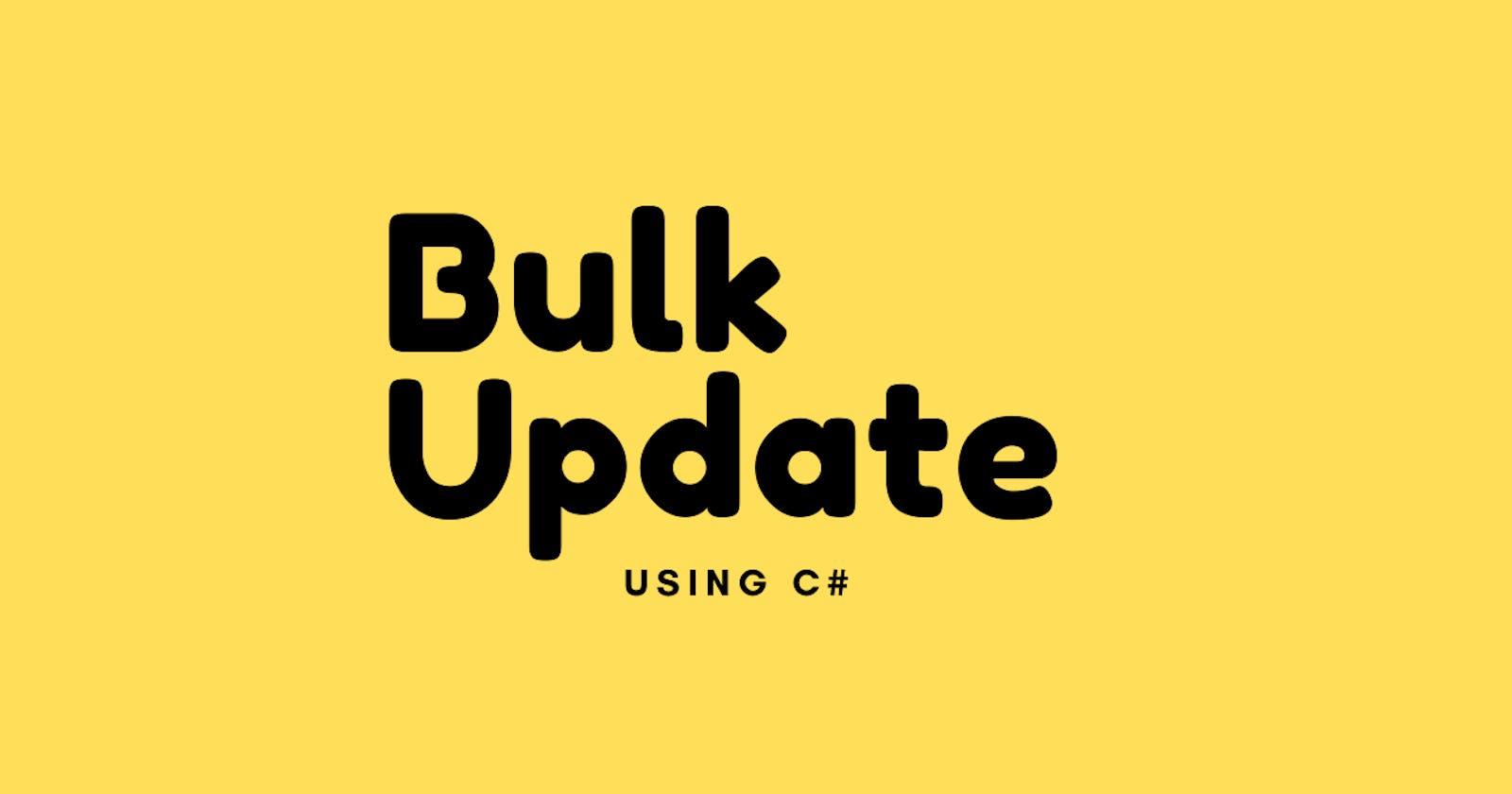 SQL Bulk Update