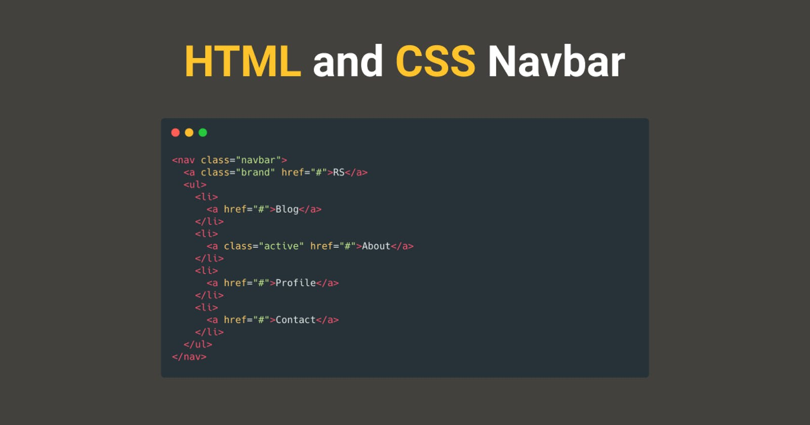 How To Build a Simple Navbar with HTML and CSS
