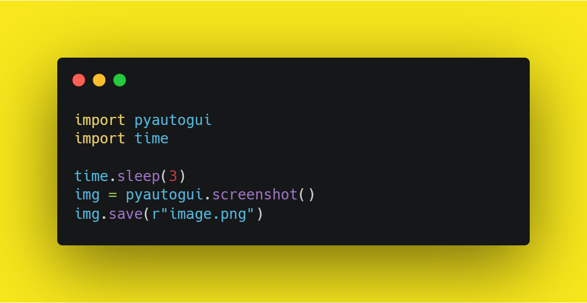 Screenshot Taker Using Python