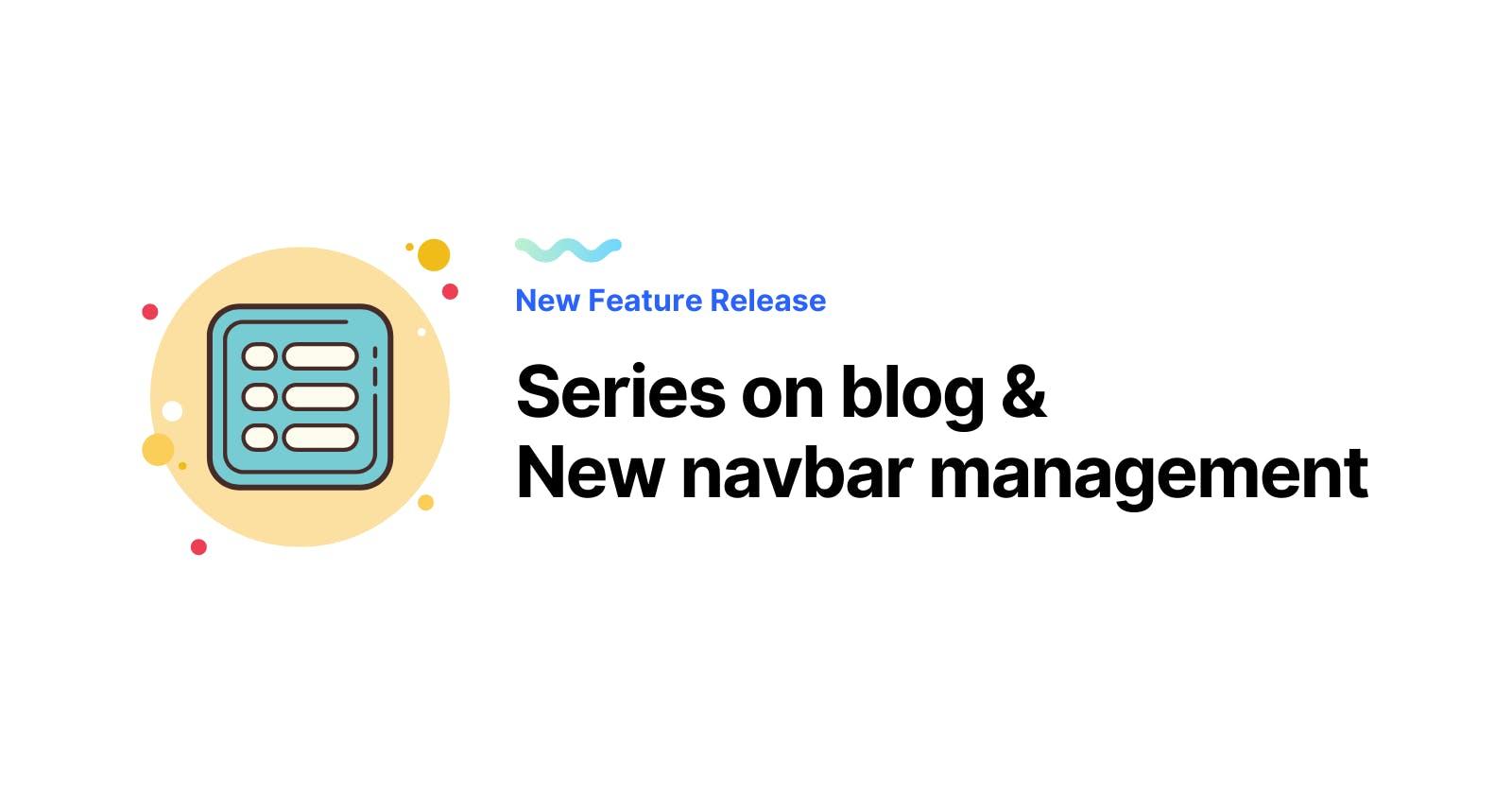 Create series on your blog and customize navbar!