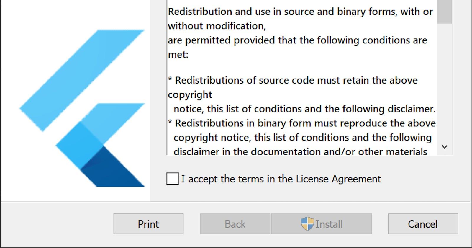 Flutter Installer for Windows—MSI (Beta Release)