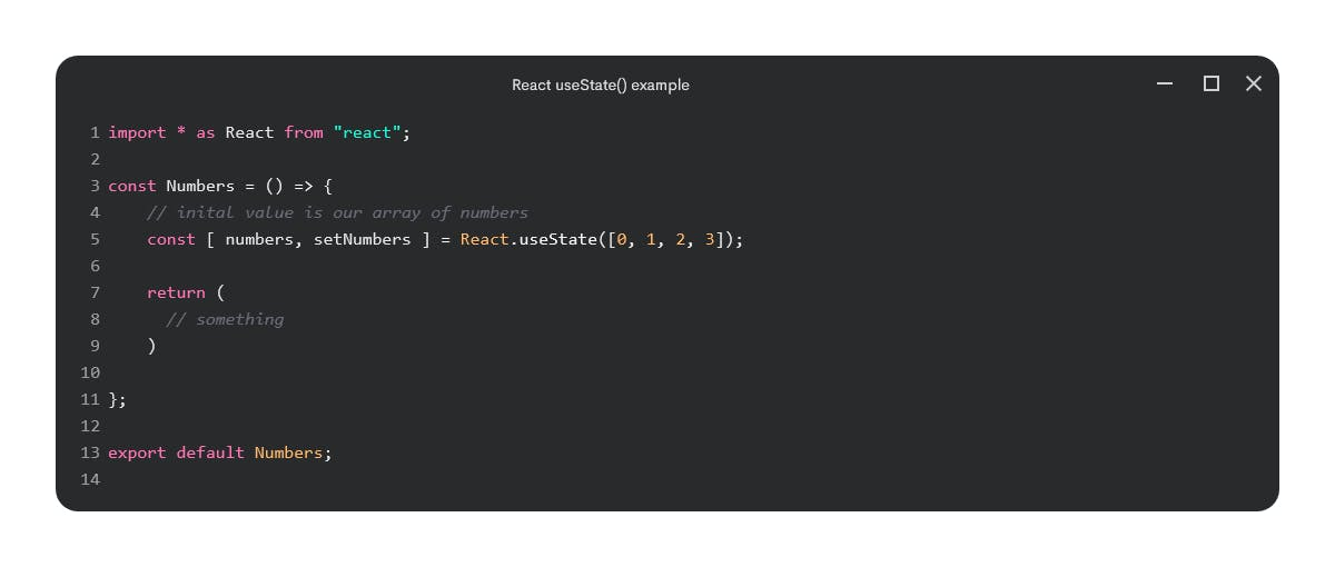 React useState() example