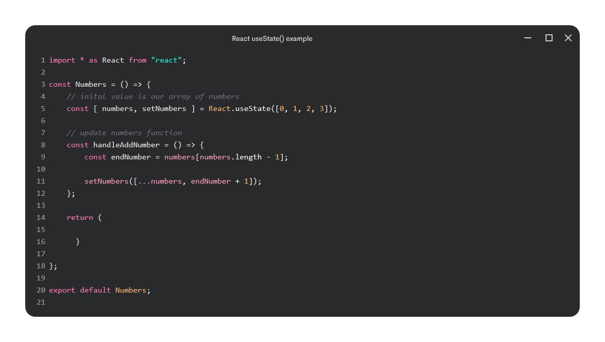 React.useState() example
