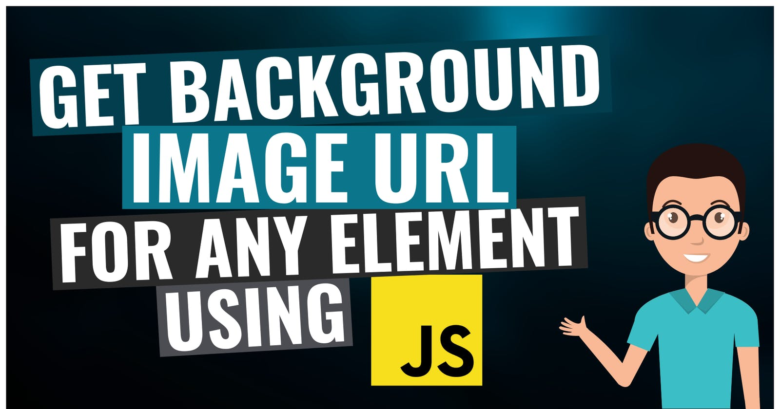 Get background image URL for any element using JavaScript