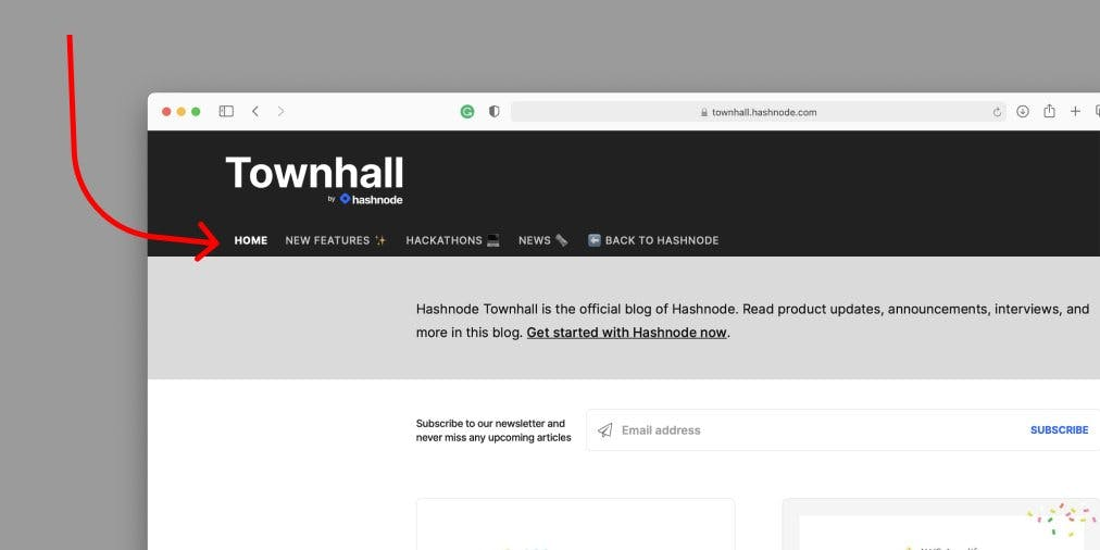 Townhall's homepage