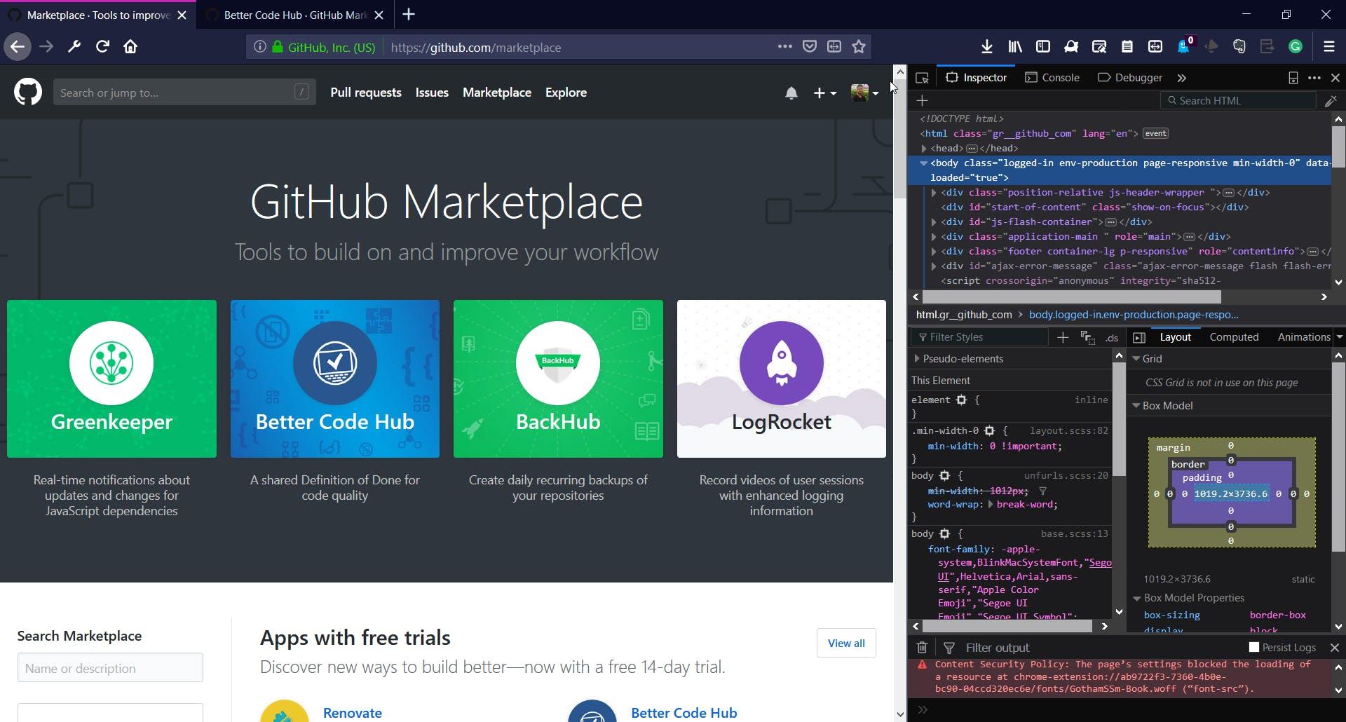 A look at Firefox's DevTools