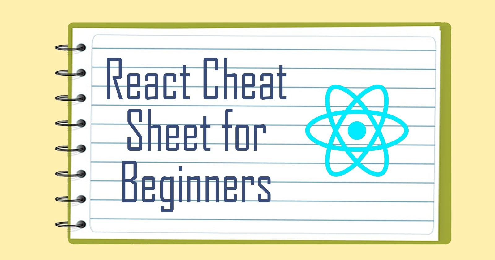 React Cheat Sheet for Beginners