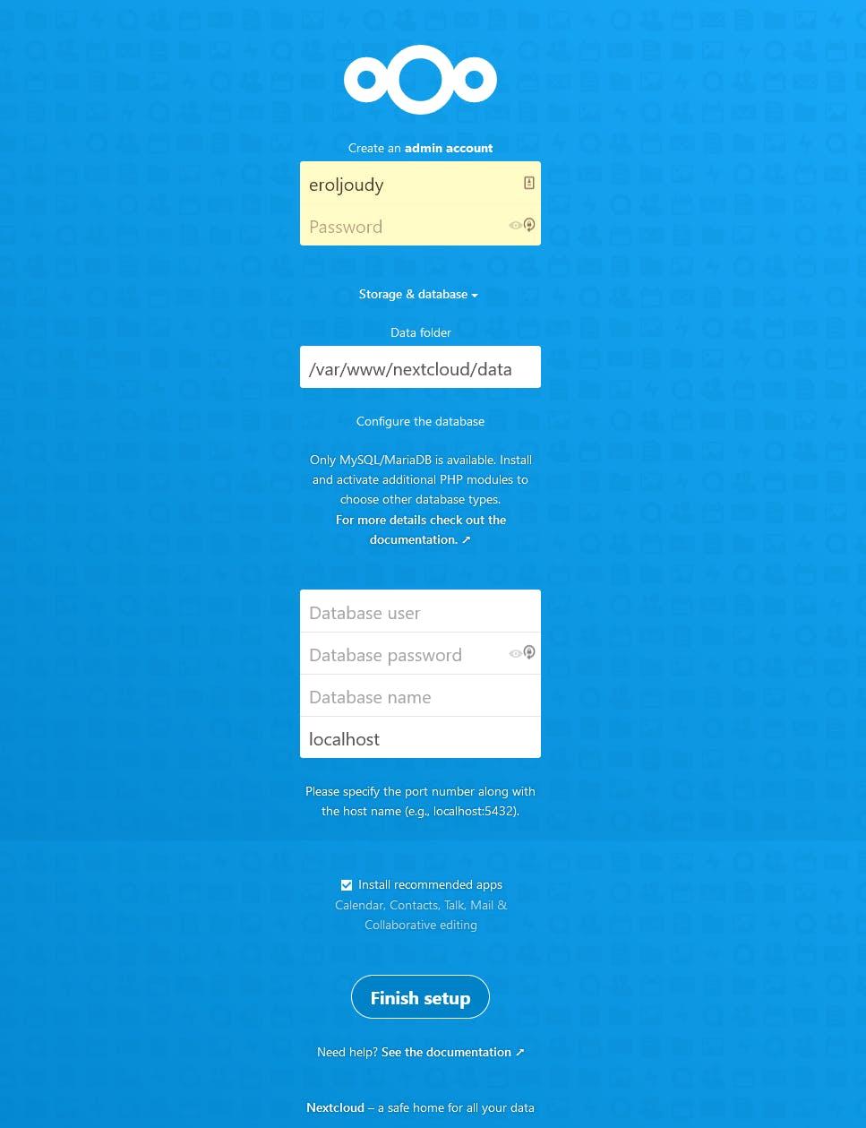 setup-nextcloud-browser