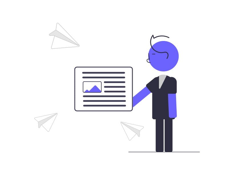 Illustration character holding article