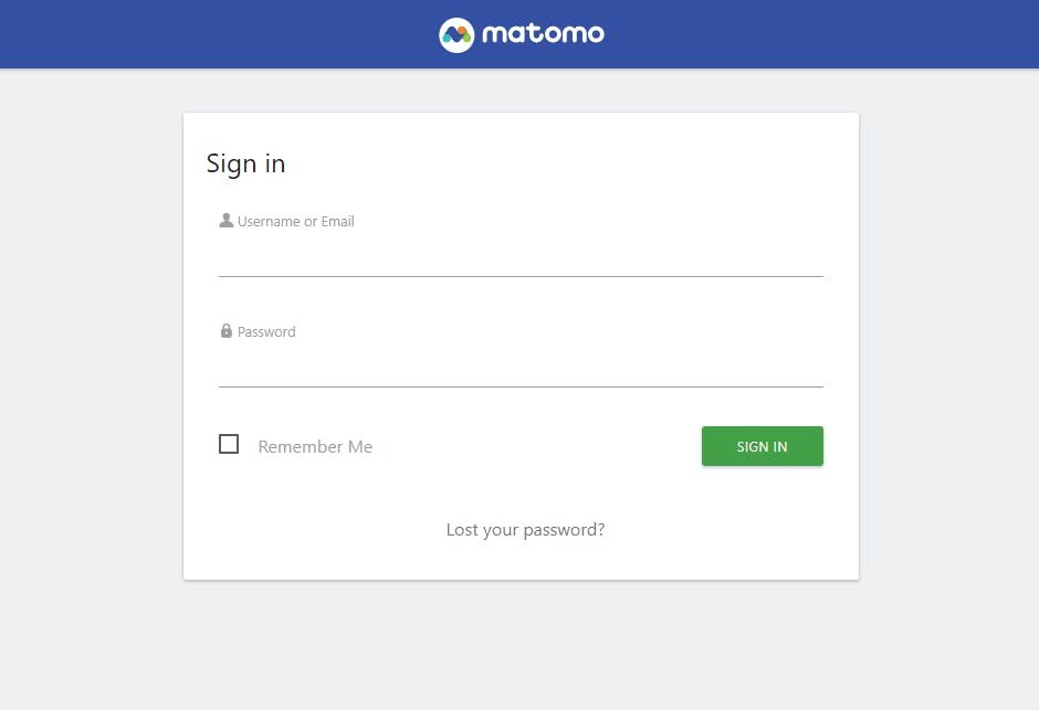 Homepage Matomo