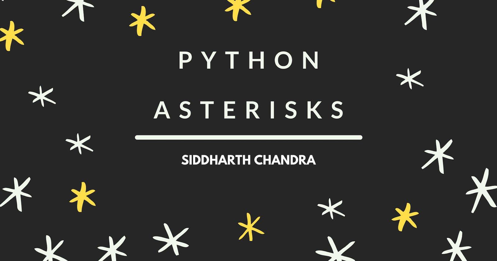 Python Asterisks